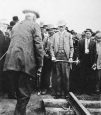 Laurier drives ACR first spike 1910