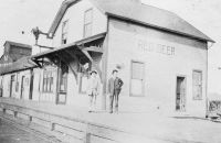 Red Deer CPR 1892 combination station 1905