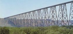 Lethbridge CPR steel trestle viaduct