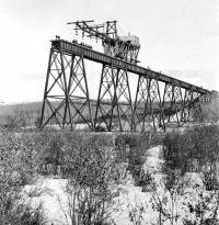 ACR Mintlaw trestle under construction 1911