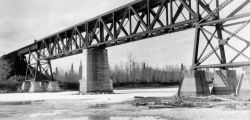 North Saskatchewan River Bridge at Rocky Mountain House