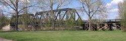 old CPR bridge in Red Deer