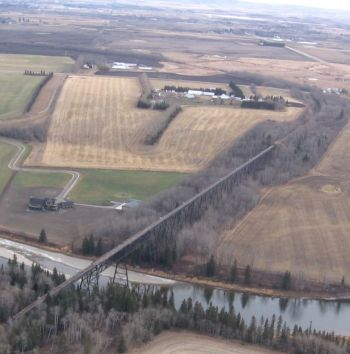 aerial of Mintlaw steel trestle