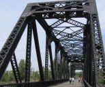 Canadian Pacific rail bridge Red Deer downtown