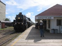 Stettler steam train excursion with engine 6060