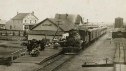 Lacombe combination station early 1900s