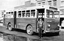 early Red Deer Transit bus