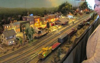 Model rail display at Revelstoke