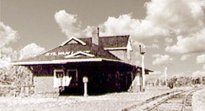 Canadian Pacific station in Sylvan Lake